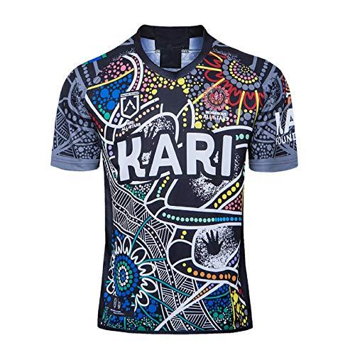 DDsports Indigene All Stars 2020, Rugby-Trikot, Neuer Bestickter Stoff, Swag Sportbekleidung (XL)