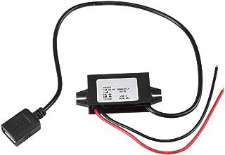 1pc DC-DC Adaptador de bajada 12V / 24V a USB 5V 3A Regulador de convertidor Convertidores de potencia a prueba de agua Cables de cable