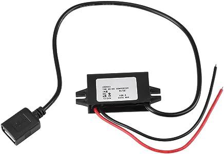 Adattatore da 1pc DC-DC Step Down da 12V / 24V a USB 5V 3A Regolatore convertitore Impermeabile Convertitori di potenza Cavi per cavi