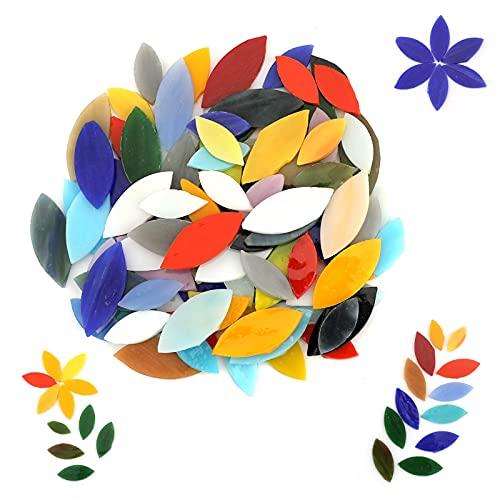 LUTER 100 Stk 2 Größen Mosaikfliesen, Glasfliesen Mosaik für Kunsthandwerk DIY, Haus Dekoration