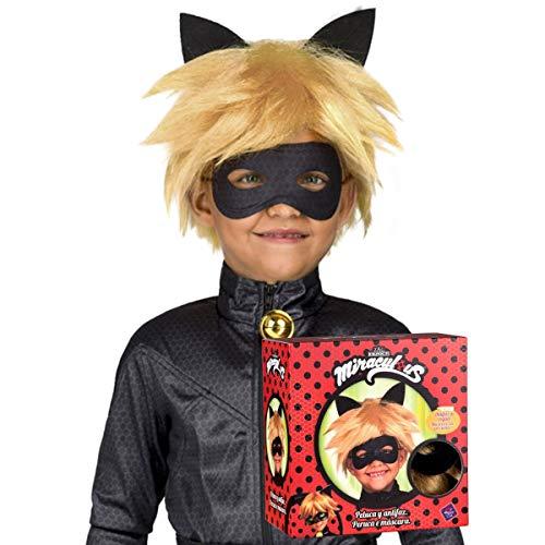 My Other Me Me Cat Noir Lady Bug parrucca, Multicolore (230145)