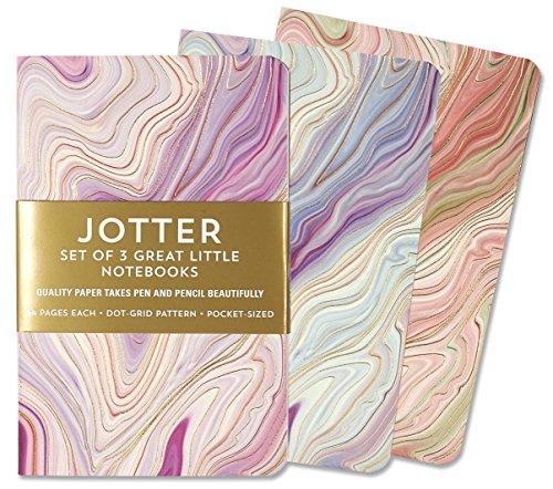 Jotter Mini Notebooks for Bullet Journaling -- Agate (3-Pack) (Interior Dot-Grid Pattern)