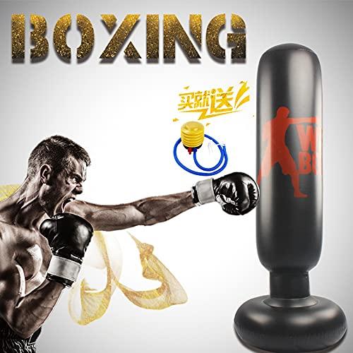 Saco de Arena Inflable de PVC para Fitness, Pilar de Boxeo, 1,6 m, Saco de Boxeo Vertical Inflable, Equipo de Fitness