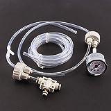 Sistema de CO2 para Acuarios, Kit de Tapa de Botella de Calibre de Válvula de Tubo Profesional