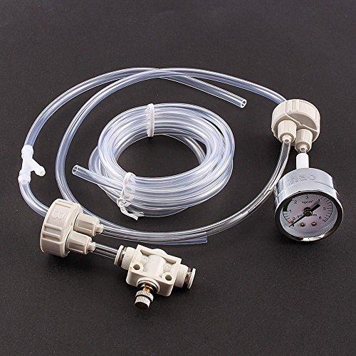 Zerone CO2 Sistema Acuario Planta, generador Sistema Kit Tubo válvula Calibre tapón con presión Aire Ajuste Agua Planta Pescado Tanque Acuario CO2 válvula de Flujo para Plantas de Interior