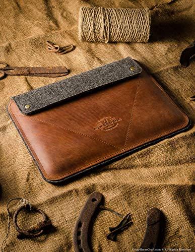 NEW 2020 iPad Pro 12.9 inch, iPad 10.2 Zoll Ledertasche/Hülle | Classic Brown, iPad Pro 11 Zoll, 100% Wollfilz, Apple, Vintage Crazy Horse Leder Tablettständer iPad Air 10.5 Cover, Crazy Horse Craft
