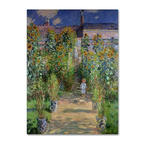 Theist's Garden at Vetheuil by Claude Monet work, 35 by 47-Inch Canvas Wall Art