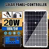 柔軟なソーラーパネル20W 18単結晶の曲げ可能な - RVボートキャビンバンカー凹凸面用20Watt半可撓性モノラルソーラーパネル充電器オフグリッド