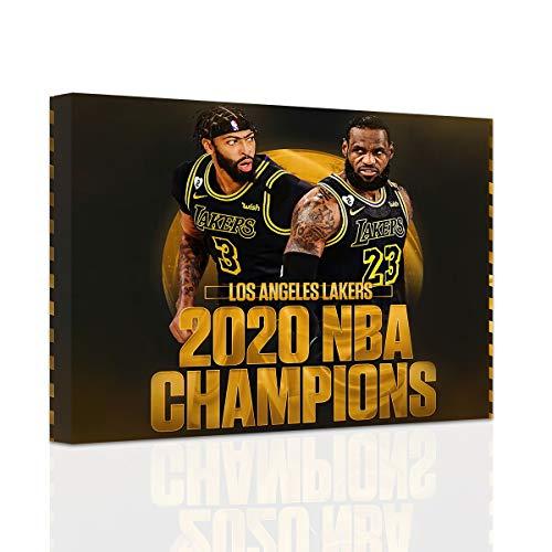 2020 Basketball Champion Mvp LeBron James Wall HD Poster Canvas Print Wall Art Painting (12 * 18inch,No Framed)