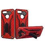 Yhuisen Funda Protectora de Doble Capa 2 en 1 Armor PC + TPU a Prueba de Golpes Compatible con OPPO F9 / F9 Pro/OPPO A7X (Color : Rojo)