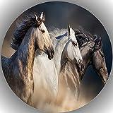 Premium Esspapier Tortenaufleger Geburtstag Pferde L32