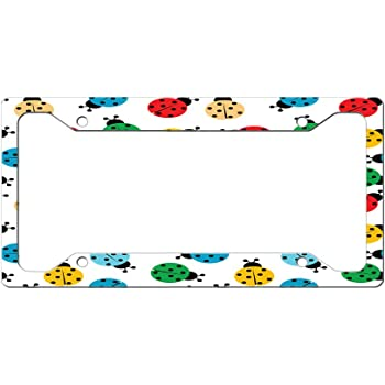 Custom License Plate Frame Pineapple Seamless Pattern Style F Aluminum Cute Car Accessories Wide Top Design Only One Frame