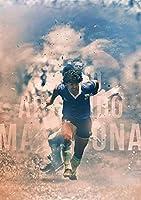 ディエゴ・マラドーナ伝説のサッカー選手afficheポスター