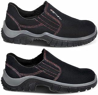 Sapato de Segurança Estival em Microfibra Preto/Vermelho nº38 - WO10021S2