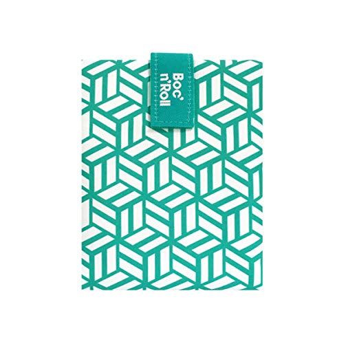 Roll'eat - Boc'n'Roll Tiles Bolsa Merienda Porta Bocadillos Ecológica y Reutilizable sin BPA, Verde