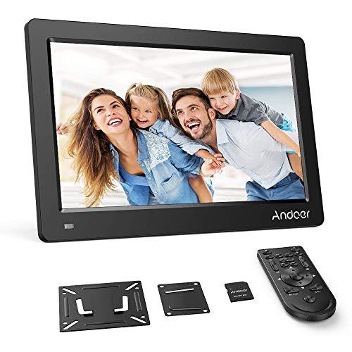 Andoer 15.6 Zoll Digitaler Bilderrahmen IPS Bildschirm Unterstützung Kalender/Uhr / MP3 / Fotos / 1080P Video Player mit Wandhalterung 8 GB Speicherkarte Schönes Geschenk