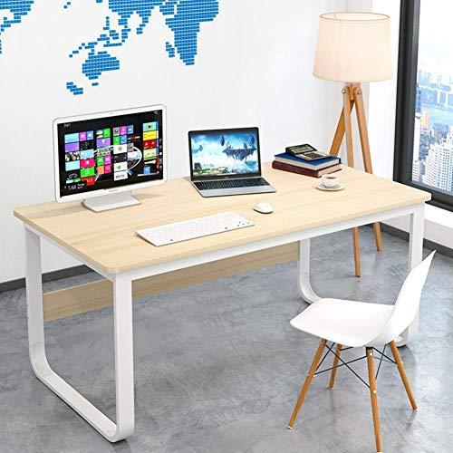 XHF Oficina en Casa, Escritorio Grande para Computadora de Escritura, Escritorio Simple, Mesa de Computadora para Estudiar, Estación de Trabajo Multifuncional con M de Metal Resistente,Gramo,120X60X7