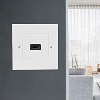Impact Resistant Wall Plate, Strong Durable Anti-aging HDMI Wall Plate, Easy Installation for Hotel Home Decoration