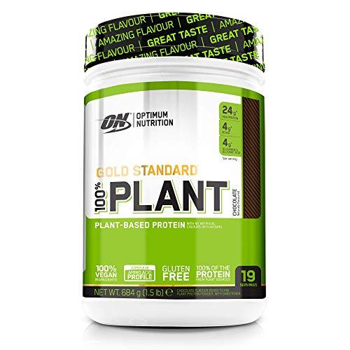 Optimum Nutrition 100% Plant Gold Standard senza Gluten, Proteine Vegane in Polvere con Vitamina B12, Aminoacidi Essenziali, BCAA Naturalmente Presenti, Cioccolato, 684g, 19 Porzioni