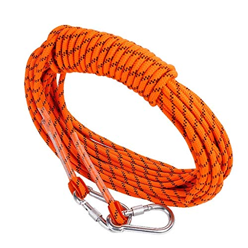 Climbing Rope Clothesline 12mm Static Climbing Rope Abseiling Rescue Rope Parachute Rope For Outdoor Sports Decoration Pet Toys Tear Resistant Rope