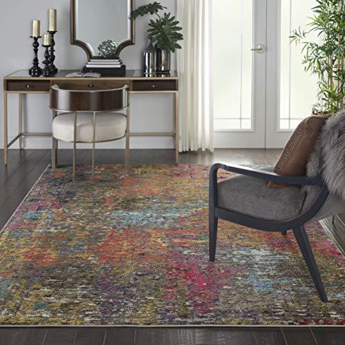 """Nourison Celestial Colorful Modern Multicolor Area Rug 6'7""""X9'7"""", SUNSET"""