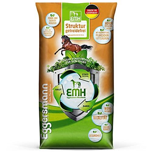 Eggersmann EMH Structure sans céréales – Réduit l'amidon et Le Sucre pour Les Chevaux souffrant de problèmes métabolisme.