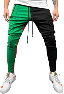 comprar comparacion YanHoo Pantalones de chándal Sueltos Ocasionales de la Aptitud del Deporte de los Hombres de la Moda Que activan Pantalone...