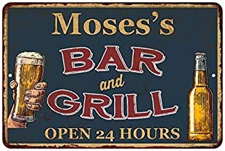 Chico Creek Signs Moses's Green Bar and Grill Personalized Metal Sign 16 x 24 Matte Finish Metal 116240044281