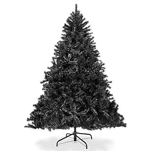 DODOBD Bästa valet produkter 90-210 cm konstgjord hel julgran säsongsbetonad helgdekoration med 90-900 kvistspetsar, vikbart stativ - svart (köp enligt storlek)