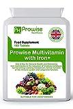 Multivitamin e ferro 180 compresse (dose di 6 mesi) Supporto immunitario - Supplemento multivitaminico One A Day - Prodotto nel Regno Unito | Standard GMP di Prowise Healthcare - Adatto ai vegetariani