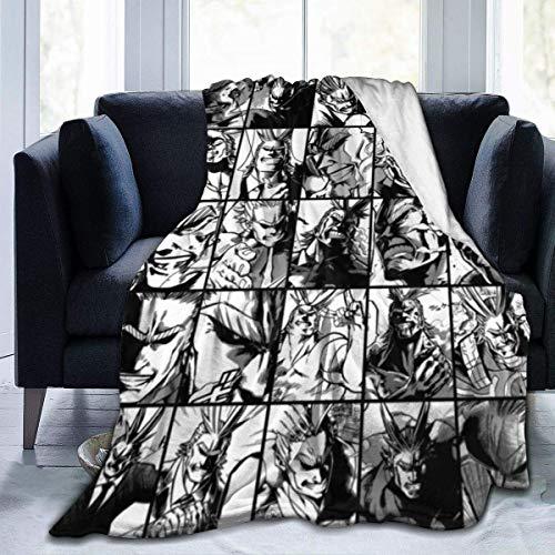 bishishengbibaihu All-Might-My-Hero-Mha-Academia Jette Manta de sofá de 80 x 60 cm