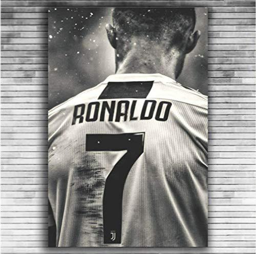 DPFRY Leinwand Gemälde Cristiano Ronaldo Sport Fußball Spieler 7 Wand Poster Art Deco Kc41T 40X60 cm Ohne Rahmen