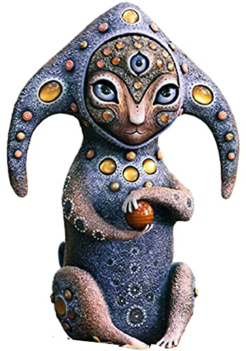 Handmade Creatures from A Fantasy World Decoration Cute Cat Figurine Resin Ornament,Perfect Artwork Decoration Garden Statues for Home Garden Lawn Yard 2021 New (Guardian of The Solar Planet)