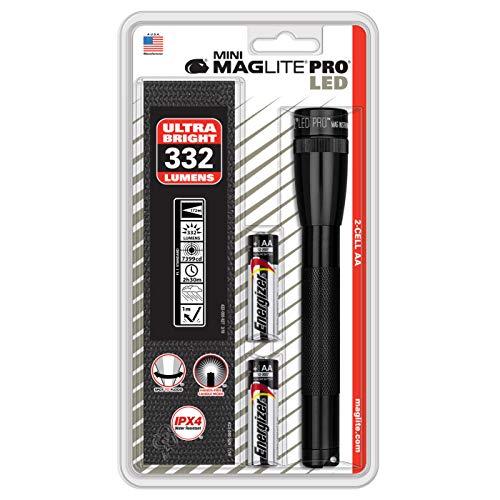 Mag-Lite Mini Pro SP2P01H Linterna LED, 332 Lumen, Negro