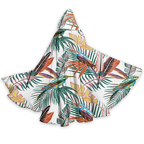 Inner-shop Aves Tropicales abstractas en la Jungla Capa Unisex con Capucha Capa de Disfraz de Cosplay para Fiesta de Halloween para Adultos