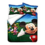 228 Mick Bedding Sets Mickey Mouse Bedding Sets Duvet Cover Set Microfibra 3D Printing Pattern for Kids A03, Double200 x 200 cm