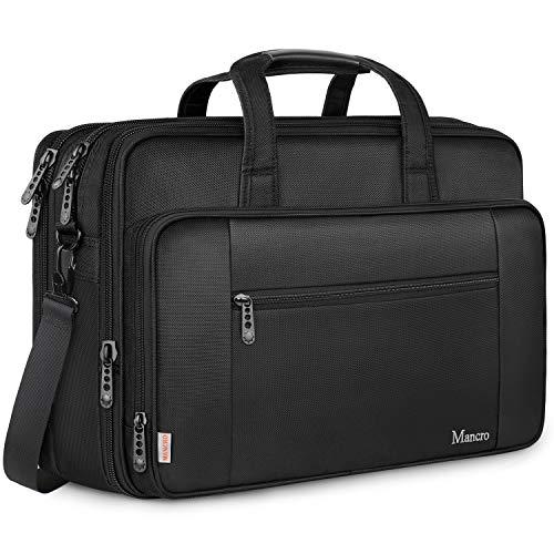 Mancro Laptop Tasche,18 Zoll Gaming Notebook (Bis zu 43 cm) Aktentasche große Umhängetasche Wasser Resisatant Multi-funktionale erweiterbare Computer Schultertaschen Geschenk für Frauen Männer