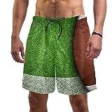 Shorts de Sport Homme Herbe de Rugby Homme Short de Bain Maillot Classique Design Tropical pour Vacances Voyage en Eté sur la Plage XL