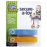 Baby Buddy 2 Piece Secure-A-Toy Safety Strap, Blue/Gold