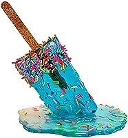 アイスキャンデーの溶けた樹脂の装飾品、透明な溶けたシクルの彫刻の装飾ミニチュア樹脂、夏のクールなアイスキャンデーの家の装飾、ポップアートの彫刻 (B)