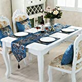 Home Flannel Table Runner Fashion Contracted Tea Table Cover Modern Luxury Refrigerator Wardrobe Table Runner, Waterproof Easy to Clean Wipeable Washable Modern Outdoor Placemats
