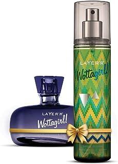 LAYER'R Wottagirl Divine Perfume & Spell Bound Body Splash Combo For Women Pack Of -2