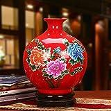 Vase Grave Indispensable Exquisite Decoration Wonderful Accent Piece Excellent Porcelain Jingdezhen Ceramics Greenery Additions for Flowers (Color : B)