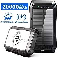 Abfoce 20,000mAh Portable Solar Charger