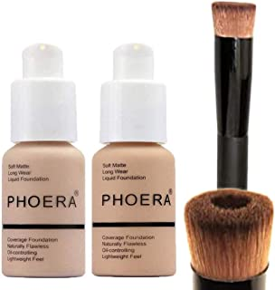Glamza PHOERA Foundation 102 and 104 Full Coverage