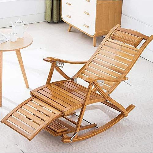 ADHW - Silla para jardín, reclinable extra ancho para patio, mecedora portátil, jardín al aire libre, mecedora para relajarse, patio, reclinable