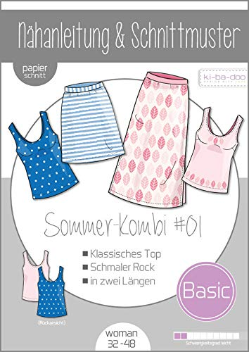 Schnittmuster kibadoo Mix&Match Damen Sommer Kombi #01 Papierschnittmuster
