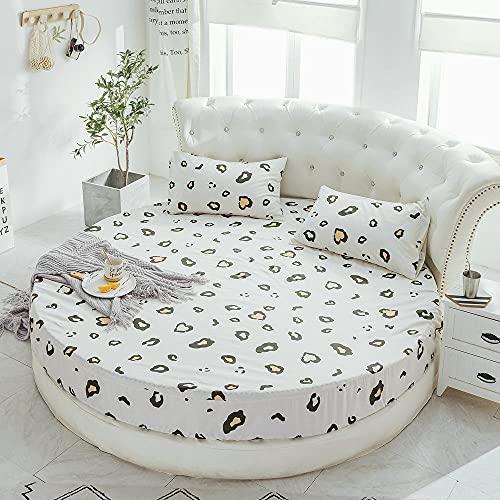 XGguo Underlakan utan järn med stark elastisk fåll för att passa tätt runt din madrass sängöverkast lakan sängkjol-m leopard_2,0 m