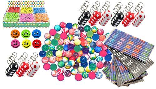 jameitop® 1x Karton mit Wurfmaterial 214 Teile Karneval Fasching Wurfartikel Restposten Spielzeug