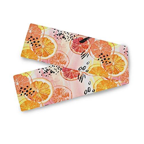 TropicalLife F17 - Camino de mesa rectangular con estampado de frutas y limón, 33 x 177 cm, poliéster para decoración de bodas, cocina, fiestas, banquetes, comedores, mesas de centro